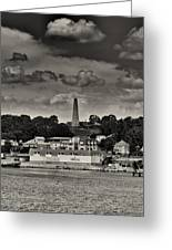 Ft Griswald Monument Black And White Greeting Card