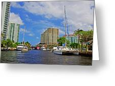 Ft. Lauderdale Canal Greeting Card