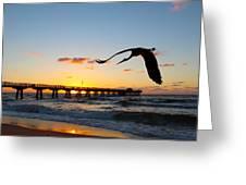 Ft Lauderdale Fishing Pier Greeting Card
