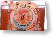 Ft Worth Steel Greeting Card