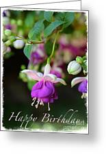 Fuchsia Birthday Card Greeting Card