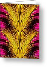 Fuchsia Sensation Abstract Greeting Card