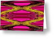Fuchsia Sensation Zigzags Greeting Card