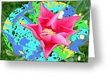 Fuchsia Tulip By M.l.d. Moerings 2012 Greeting Card