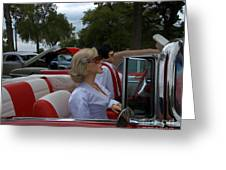 Fuel Injection Cadillac Greeting Card