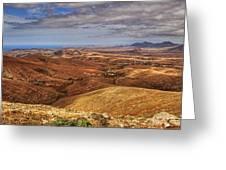Fuerteventura Iterior Panorama Greeting Card