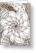 Full Bloom V Greeting Card