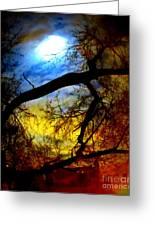 Full Crow Moon Greeting Card by Maria Scarfone