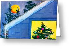 Full Moon At Christmas Greeting Card