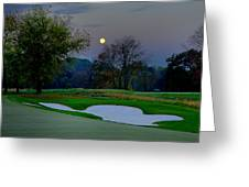 Full Moon At The Philadelphia Cricket Club Greeting Card by Bill Cannon