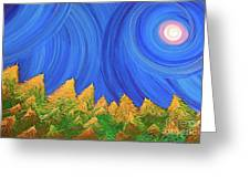 Full Moon Forest By Jrr Greeting Card