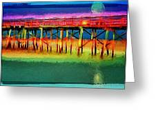 Full Moon In Flagler Greeting Card
