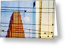 Full Moon In The City Greeting Card