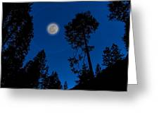 Full Moon In Yosemite Greeting Card