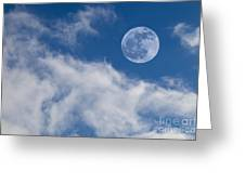 Full Moon On Blue Sky Greeting Card