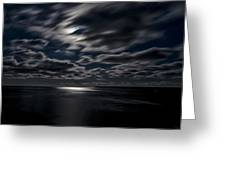 Full Moon On The Bay Of Fundy Greeting Card