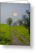 Full Moon On The Rise Greeting Card