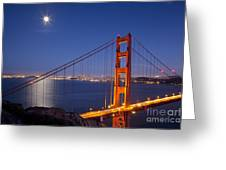 Full Moon Over San Francisco Greeting Card