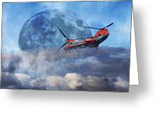 Full Moon Rescue Greeting Card by Betsy Knapp
