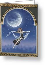 Full Moon Swing Greeting Card by Nickie Bradley