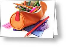 Full Pencil Case Greeting Card
