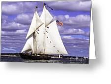 Full Sails Ahead Greeting Card