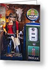 Full Service Route 66 Gas Station Greeting Card