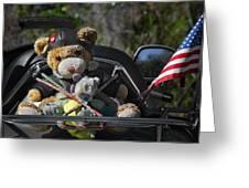 Full Throttle Teddy Bear Greeting Card