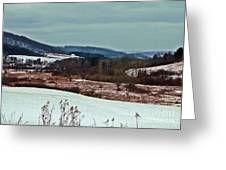 Fulmer Valley In Winter Greeting Card