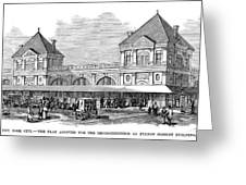 Fulton Fish Market, 1881 Greeting Card