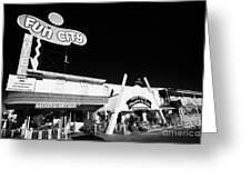 fun city motel and chapel of the bells wedding chapel on the strip Las Vegas Nevada USA Greeting Card