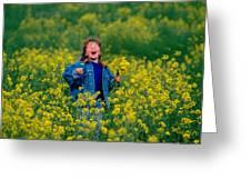 Fun Picking Flowers Greeting Card