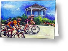 Fun Time In Bicycling Greeting Card