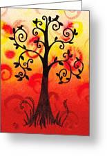 Fun Tree Of Life Impression IIi Greeting Card