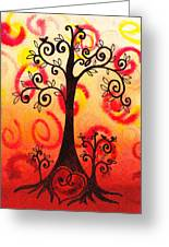 Fun Tree Of Life Impression Vi Greeting Card
