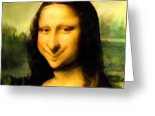 Fun With Mona Lisa Greeting Card