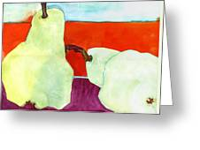 Fundamental Pears Still Life Greeting Card