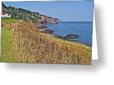 Fundy Bay Coastline Near Cliffs Of Cape D'or-ns Greeting Card
