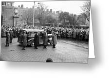 Funeral Of Sean South Greeting Card