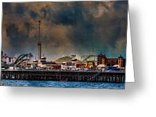 Funfair On The Pier Greeting Card