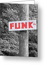 Funk Road Greeting Card