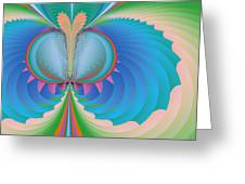 Funky Butterfly Abstract Art Greeting Card