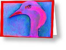 Funky Demoiselle Crane Bird Art Prints Greeting Card