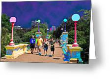 Funky Foot  Bridge Greeting Card