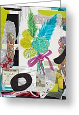 Funky Forest Collage Greeting Card