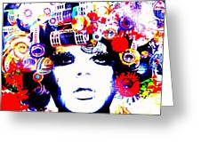 Funky Hair In Bali Greeting Card by Funkpix Photo Hunter