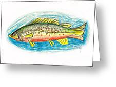 Funky Trout Greeting Card