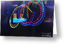 Funnel Of Lights Greeting Card