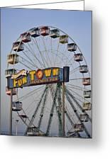 Funtown Ferris Wheel Greeting Card