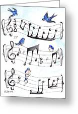 Fur Elise Song Birds Greeting Card